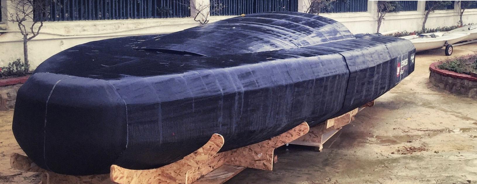 Završeni, neobrađebi 3D printani trup MINI-6.50 regatne jedrilice, izvor: Instagram