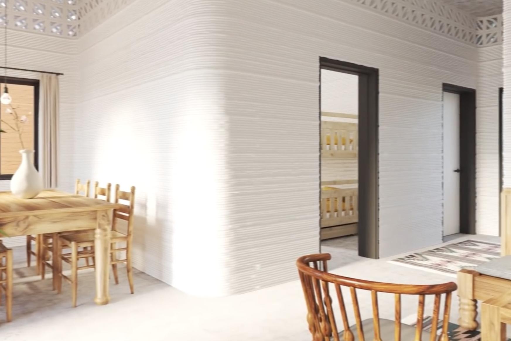 Interijer 3D printane kuće, izvor: newstorycharity.org