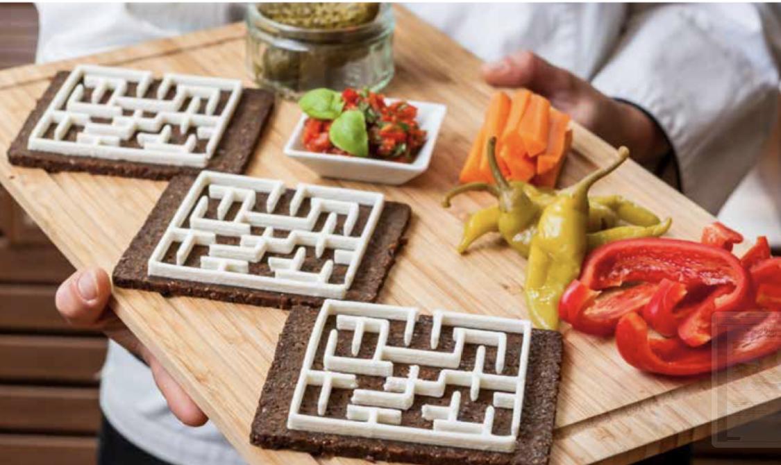 Kozji sir, predjelo - Model labirinta izrađen iz kozjeg sira