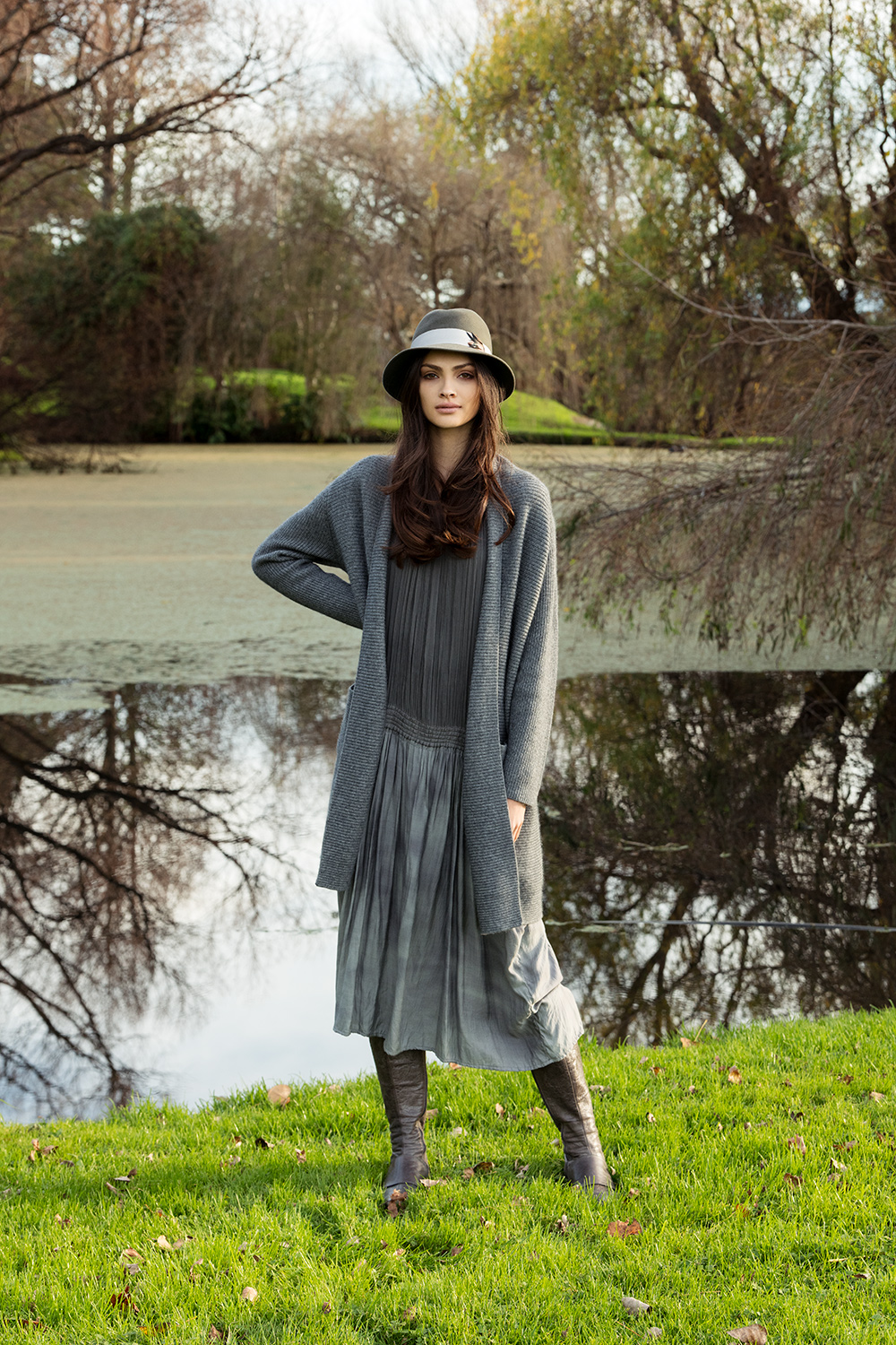 Long Baby Cashmere Cardigan