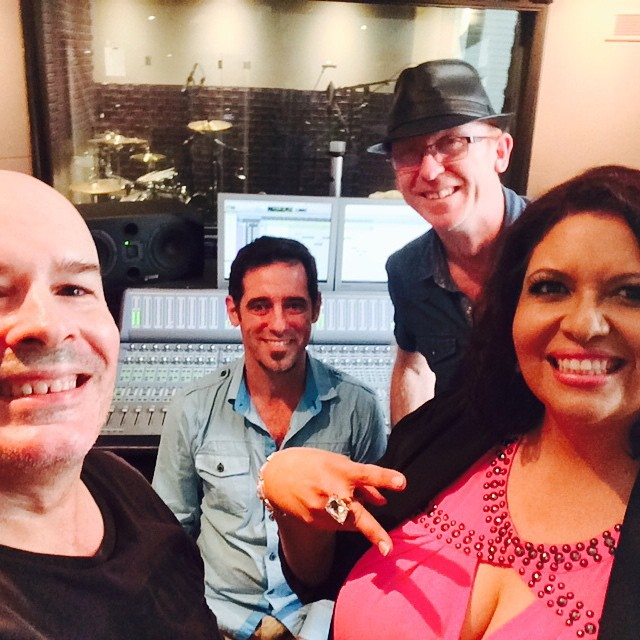 "Production for Rochelle Pitt - ""You got a good thing Coming"" single. From Left: Brett Charles (video production), Damien Codotto (Owner/Engineer @ Purple Sound Studios, Cairns), me and Rochelle Pitt"