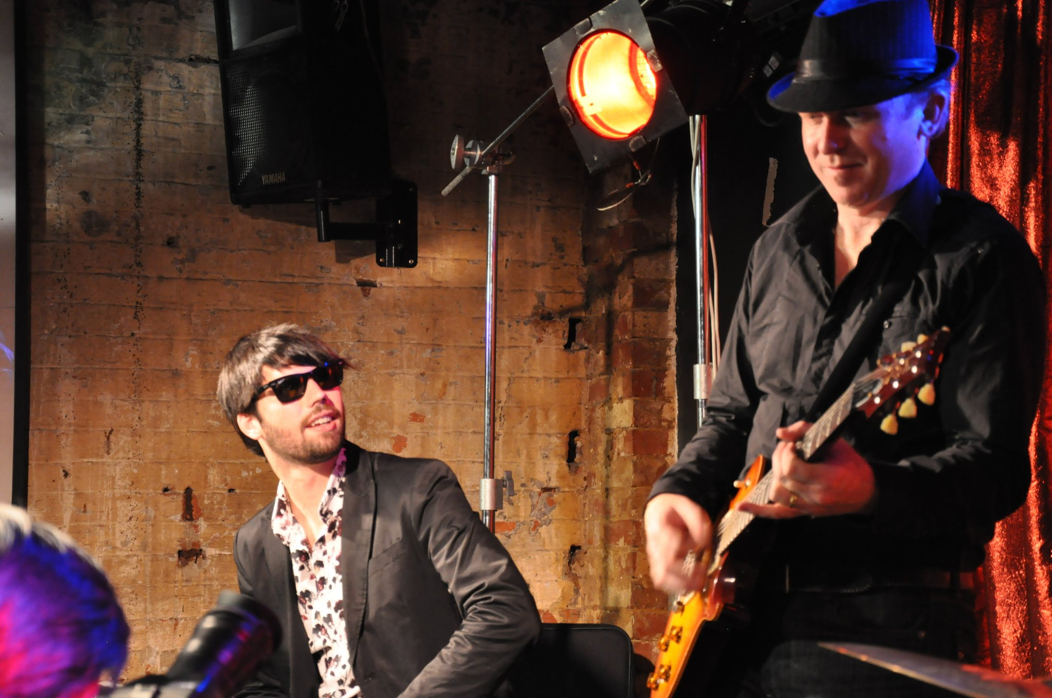 """The Skylines live At Cherry Bar, ACDC Lane, Melbourne 2011. Left to Right: Ben """"Hoos"""" Huisman (keys), me with my PRS 245"""