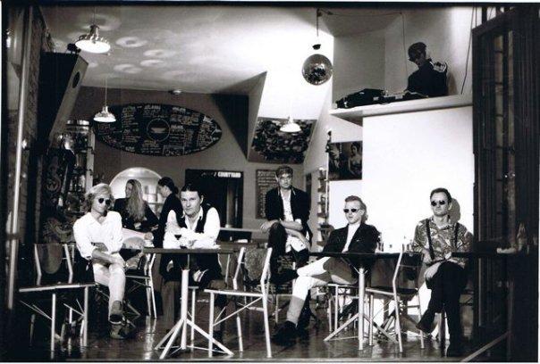 Greg Johnson Set, 1992, Parnell, New Zealand: L-R: Trevor Reekie, Greg Johnson, Johnny Fleury, Me with Max Headroom glasses, Scott Rodgers.