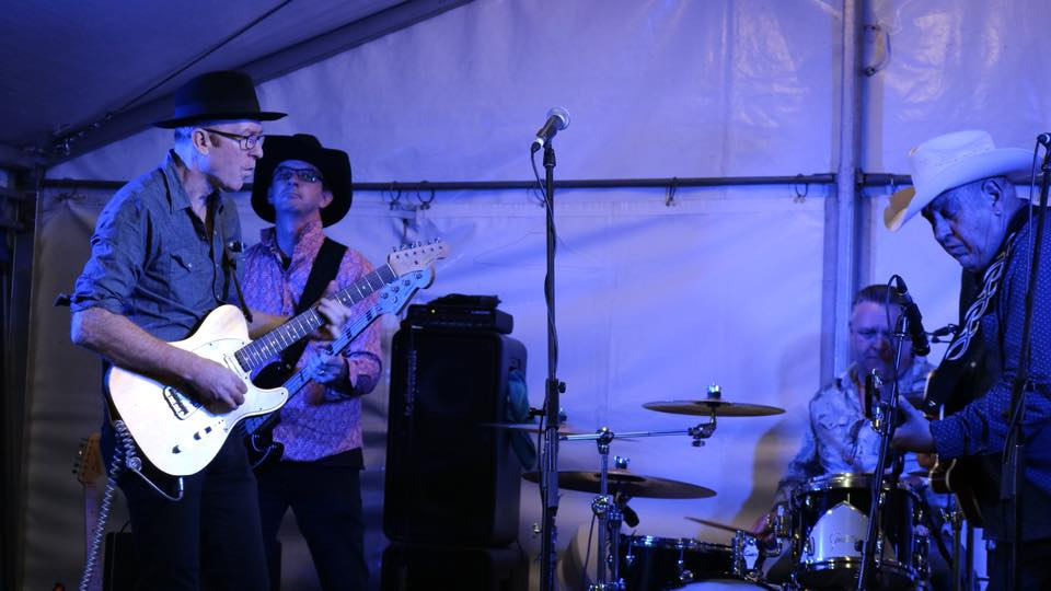 The Haymakers, 2018: L-R: me, Jason Stimson (bass) and Geoff Townsley (drums)