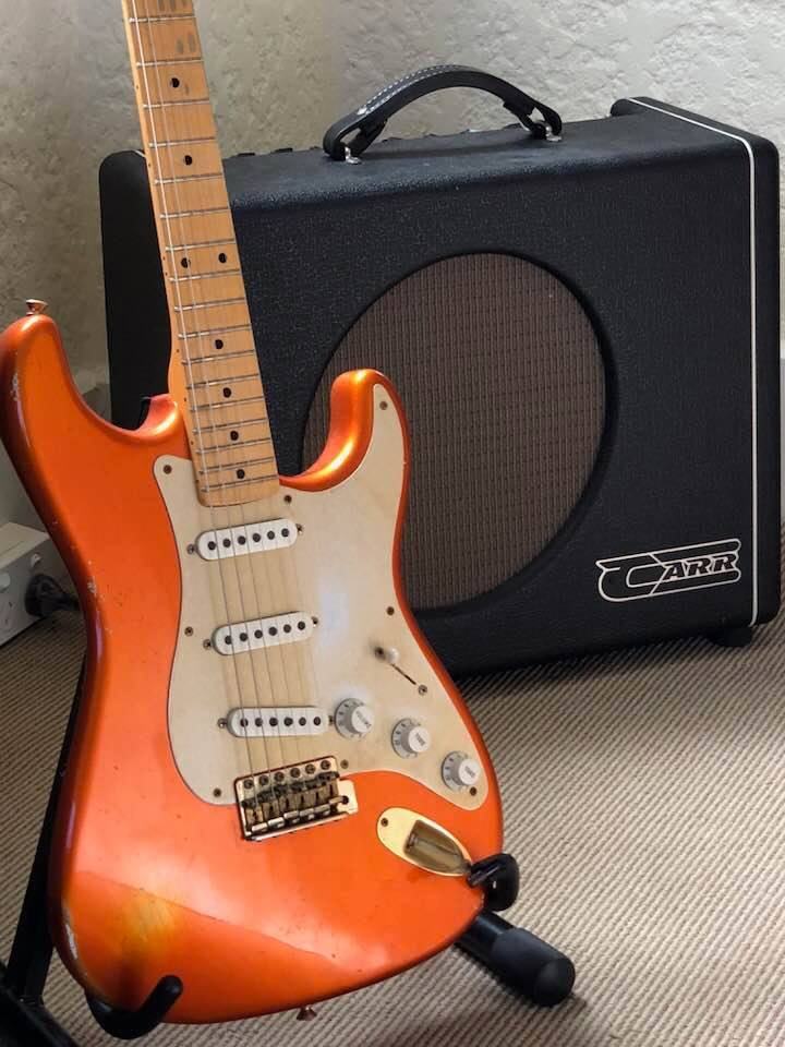 Fender Custom Shop Stratocaster 1956 Re-issue in Candy Tangerine & Carr Mercury V Amplifier
