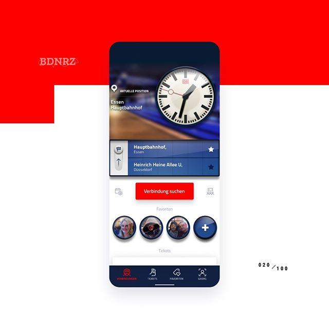 #redesign 020/100 - @db_deutsche.bahn from 2012 #tbt  Check out the comparison with the original #ui design here: https://dribbble.com/shots/6805164--randomredesign-020-tbt  #designchallenge #redesign #mobile #flutter #ios #android #figma #crossplatform #multiplatform #appdesign #materialdesign