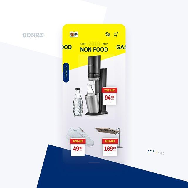 #redesign 021/100 - @metro_deutschland Check out the comparison with the original #ui design here: https://dribbble.com/shots/6816274--randomredesign-021  #designchallenge #redesign #mobile #flutter #ios #android #figma #crossplatform #multiplatform #appdesign #materialdesign