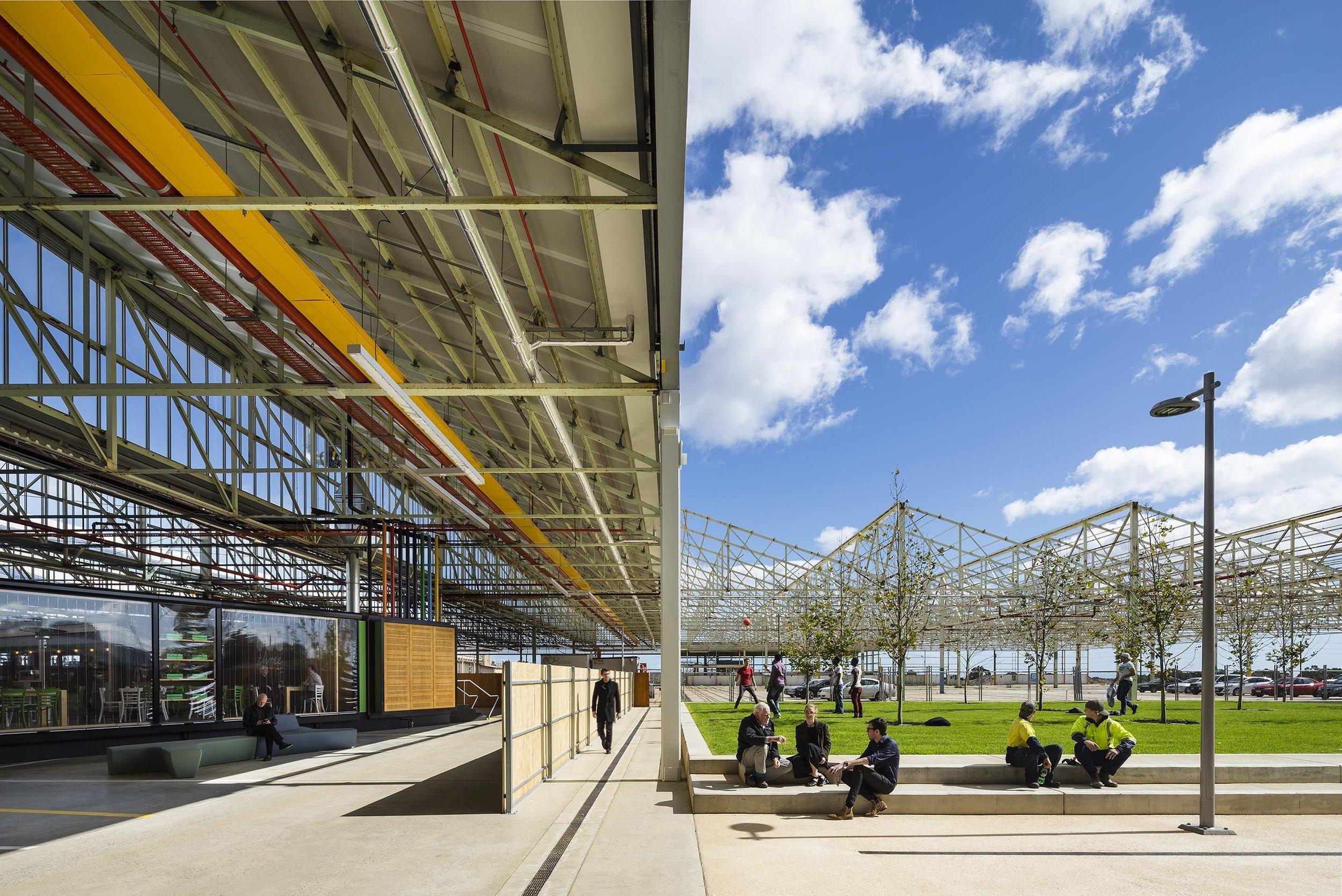 Pictured: Tonsley Innovation Hub designed by Woods Bagot.