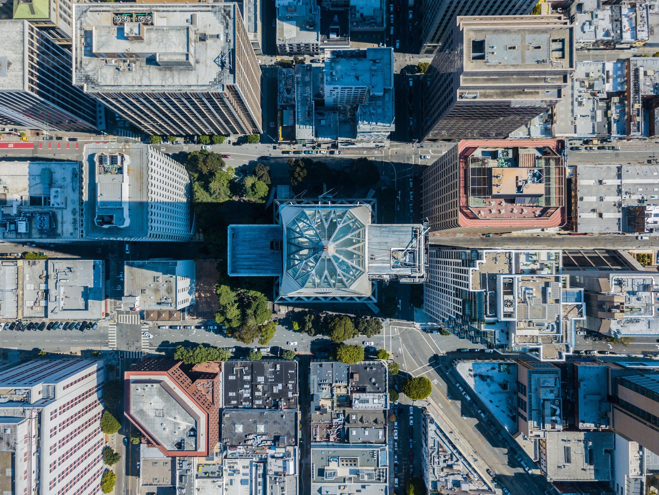 Drone of city, photo by Scott Szarapka.