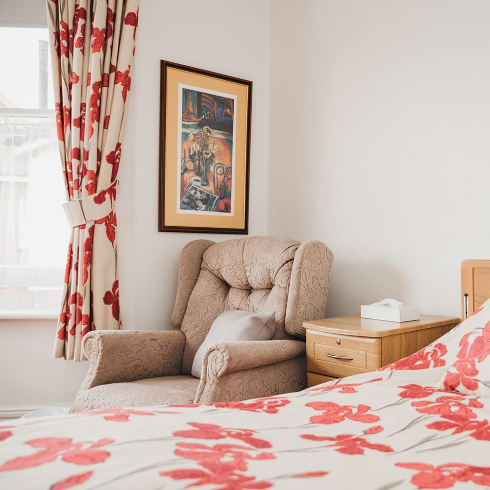 Rooms & Facilities - We renovated the home in 2018, working with a top local interior decorator. Our aim was to create a home that felt truly warm and cosy, with bedrooms that were light and airy but also offered soft comfort. Every bedroom can be completely customised, and we encourage all residents to bring furniture, soft furnishings and ornaments to make their space their own.We have a large, spacious activities room which is situated in the conservatory. This provides a space for all residents to come and go as they choose, with activities such as puzzles, cards and a computer to use throughout the day.