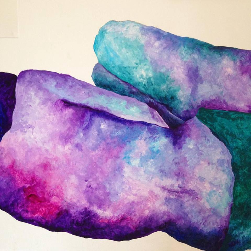 "Painting,  ""Conversaciones mudas""  by Barcelona-based artist & activist Cinta Tort Cartró, known as Zineta. Follow her work @zinteta on Instagram & Facebook or @zintetaart on Twitter."