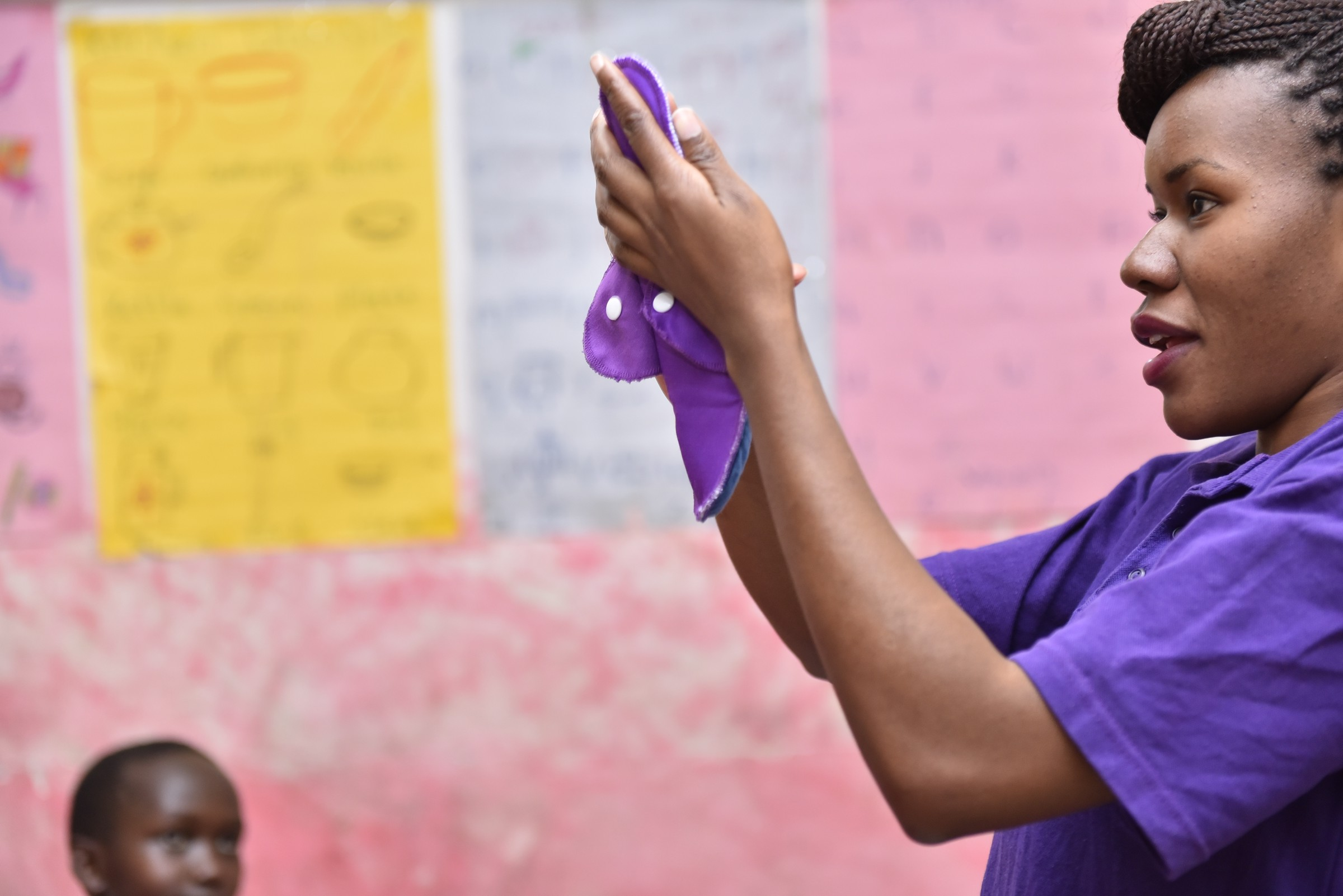 Huru International has produced over 1,000,000 pads to date by local women and men in under-served communities