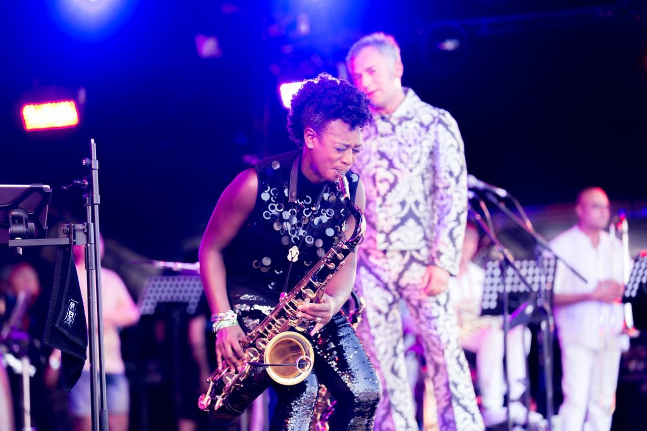 Yolanda Brown, The Love Unlimited Synth Orchestra. Glastonbury 2019.jpg