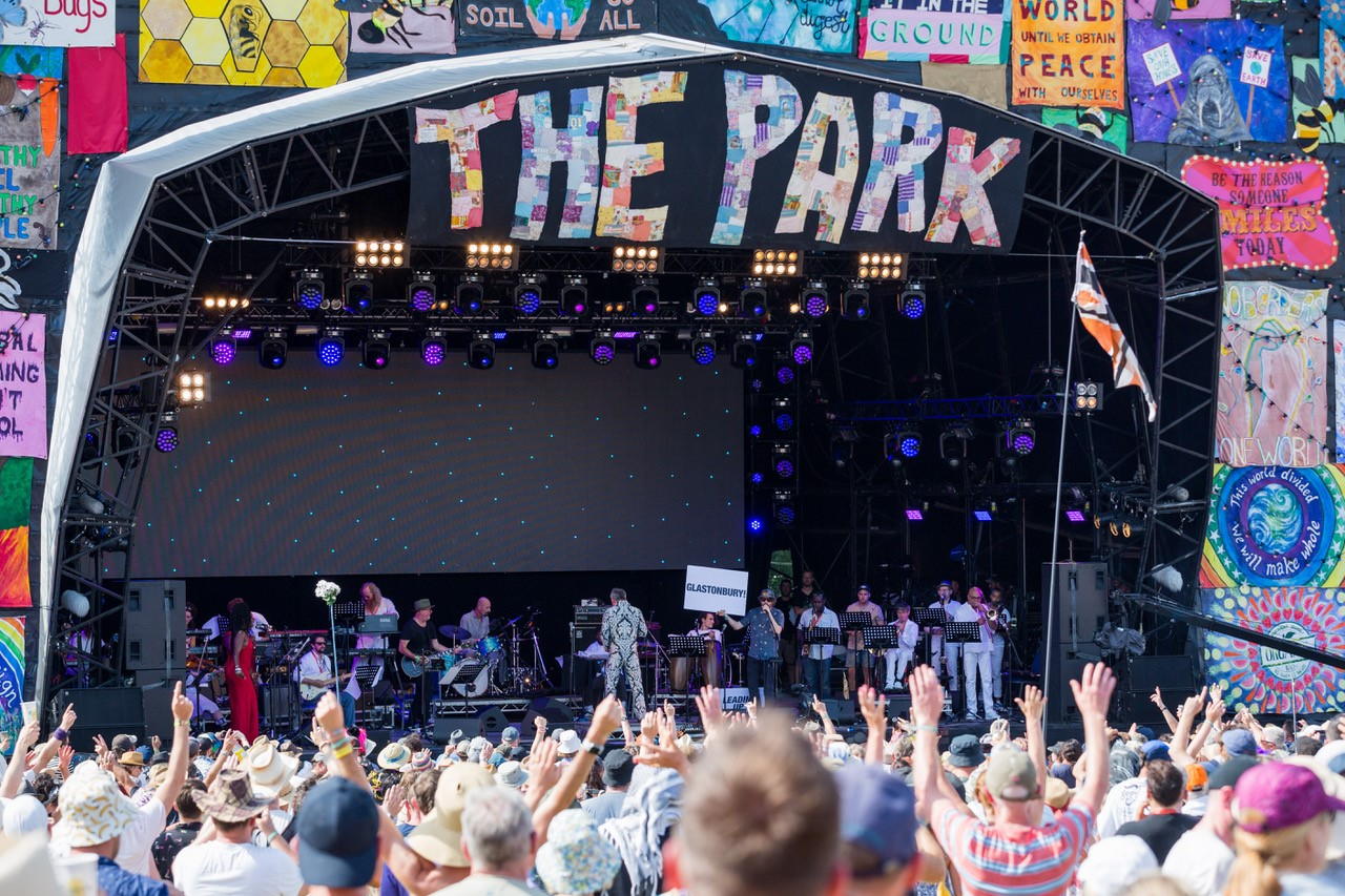 The Park stage The Love Unlimited Synth Orchestra. Glastonbury 2019 2.jpg
