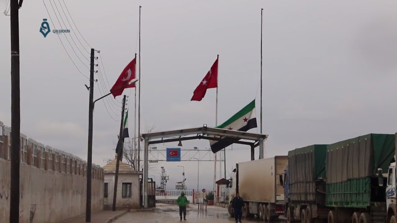 Bildet viser Bab al-Salaam grensen mellom Syria og Tyrkia, og er hentet fra Wikicommons (Qasioun News Agency )