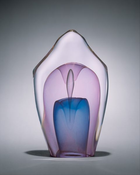 Emergence in Polychrome , 1977  Dominick Labino (American, 1910–1987)  Hot-worked glass in dichroic color  Metropolitan Museum of Art, New York
