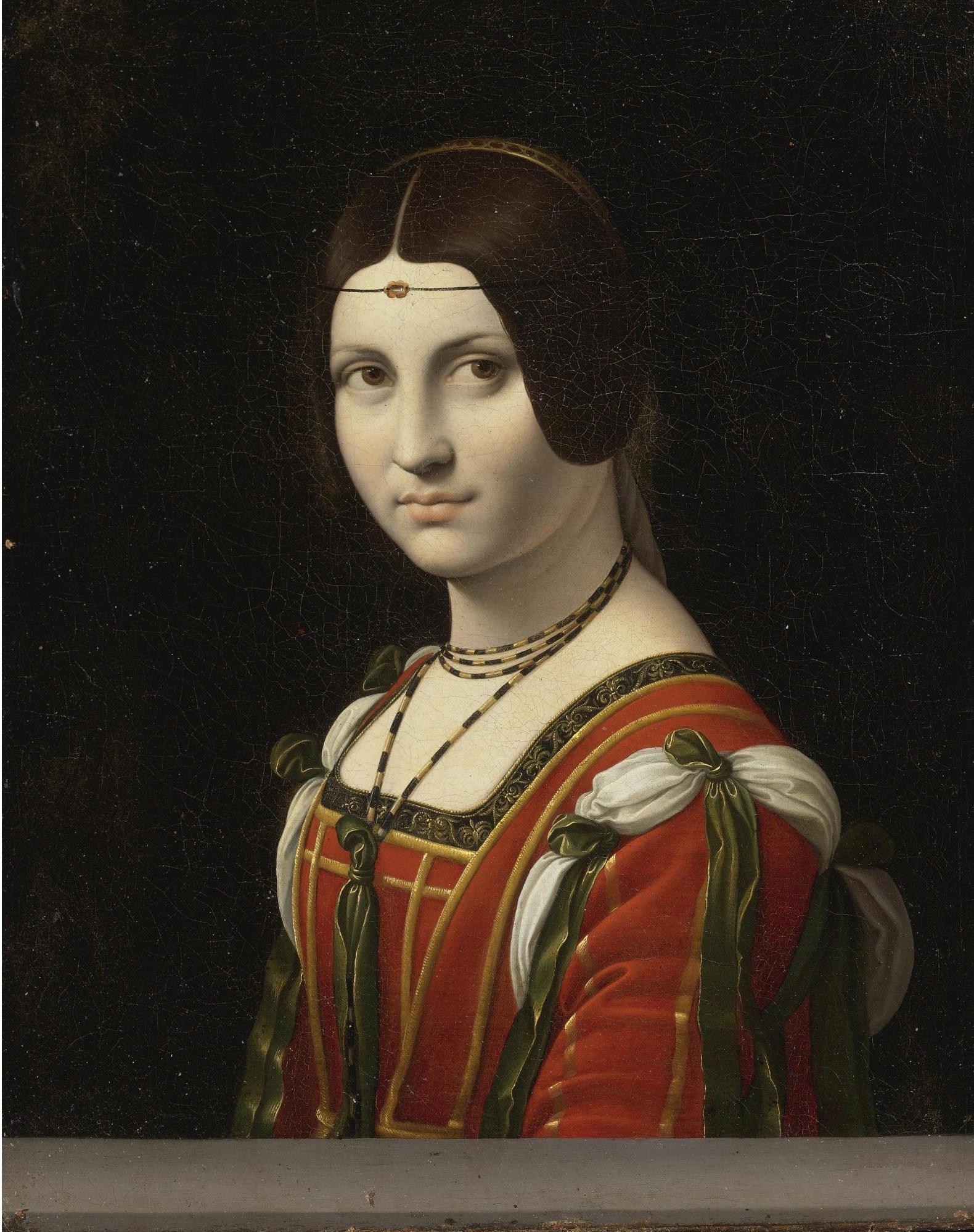 - Figure 1La Belle FerronnièreFollower of Leonardo da Vinci, probably before 1750Oil on canvas