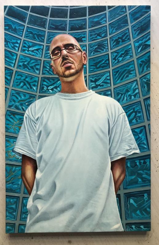 """Mario Loprete, """"B-Boy,"""" oil on canvas cm 60 x 90 cm"""