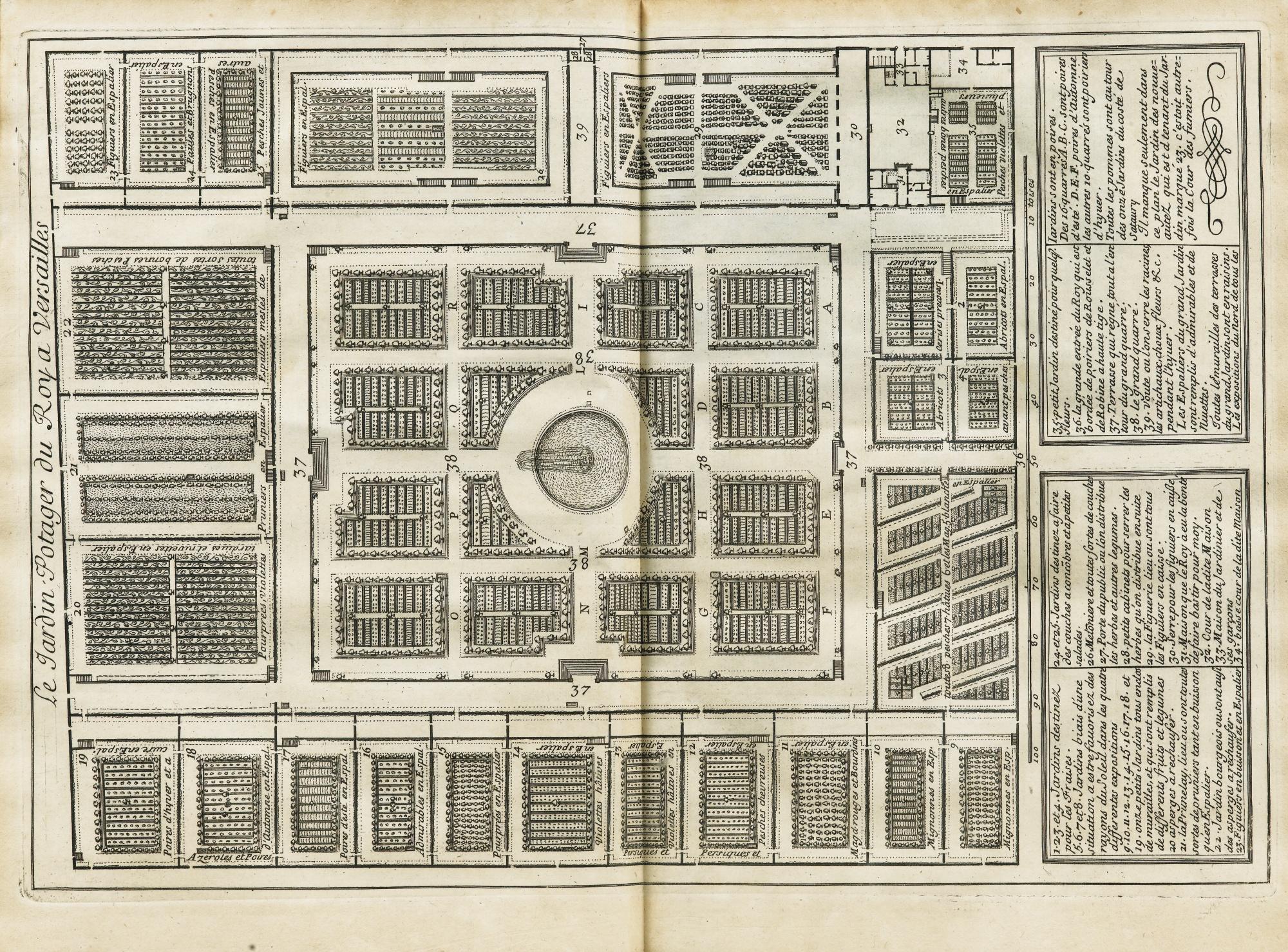 La Quintinie, Jean de.  Instruction Pour Les Jardins Fruitiers et Potagers.  Paris: Barbin, 1690. Image source:    Sotheby's