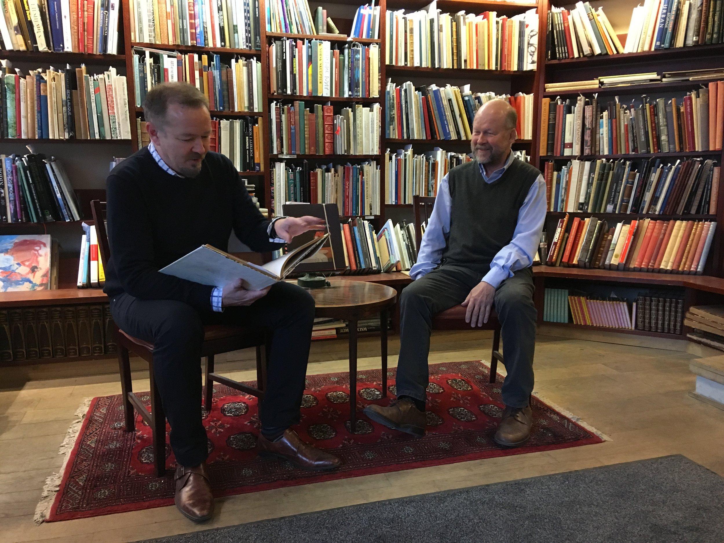 Thor Gunnar Næss (left) & Rolf Warendorph (right) ,  Photo credit:  Spencer W. Stuart , 2018.