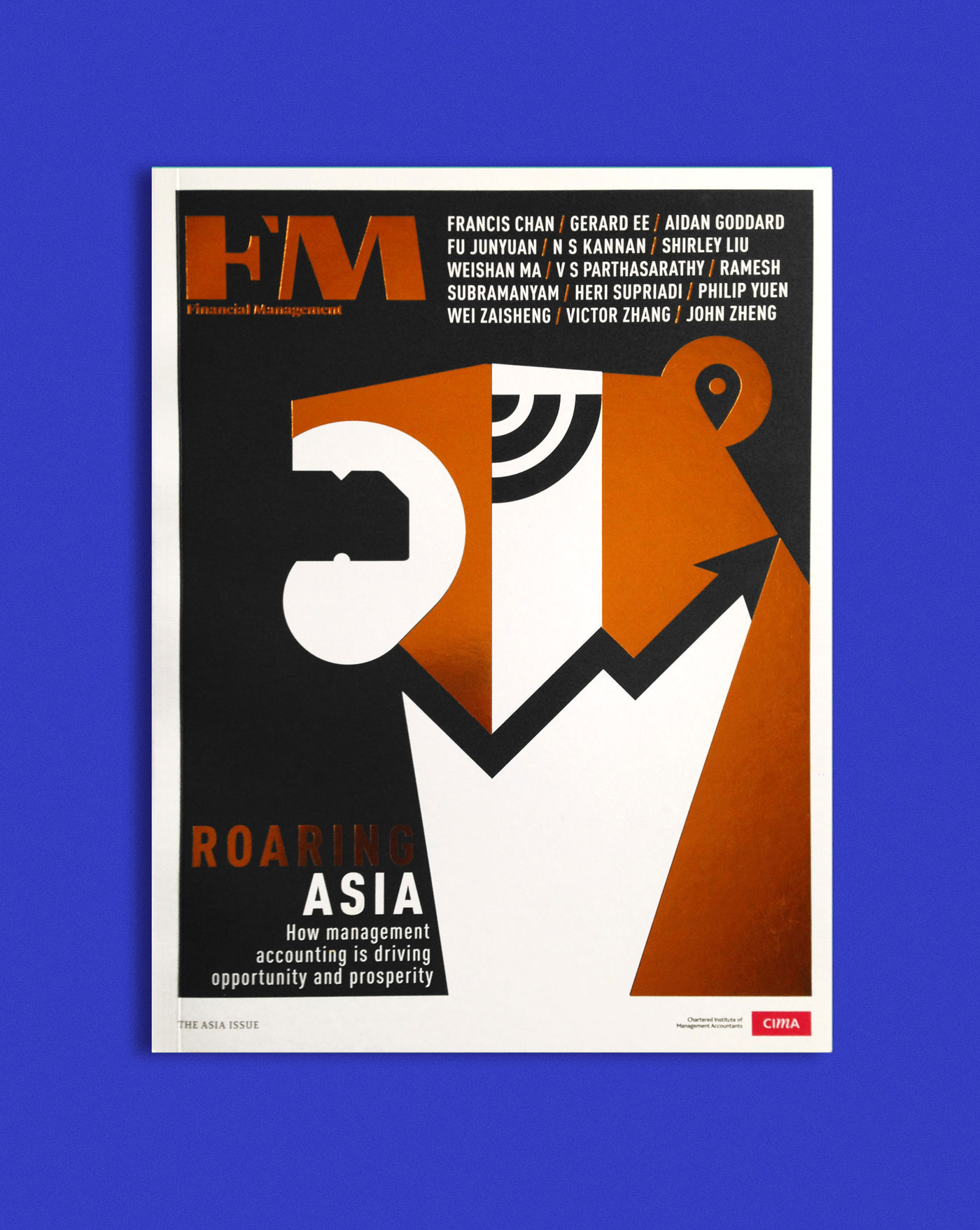 FM World - Cover illustration about the Asian Tiger and the tech industry