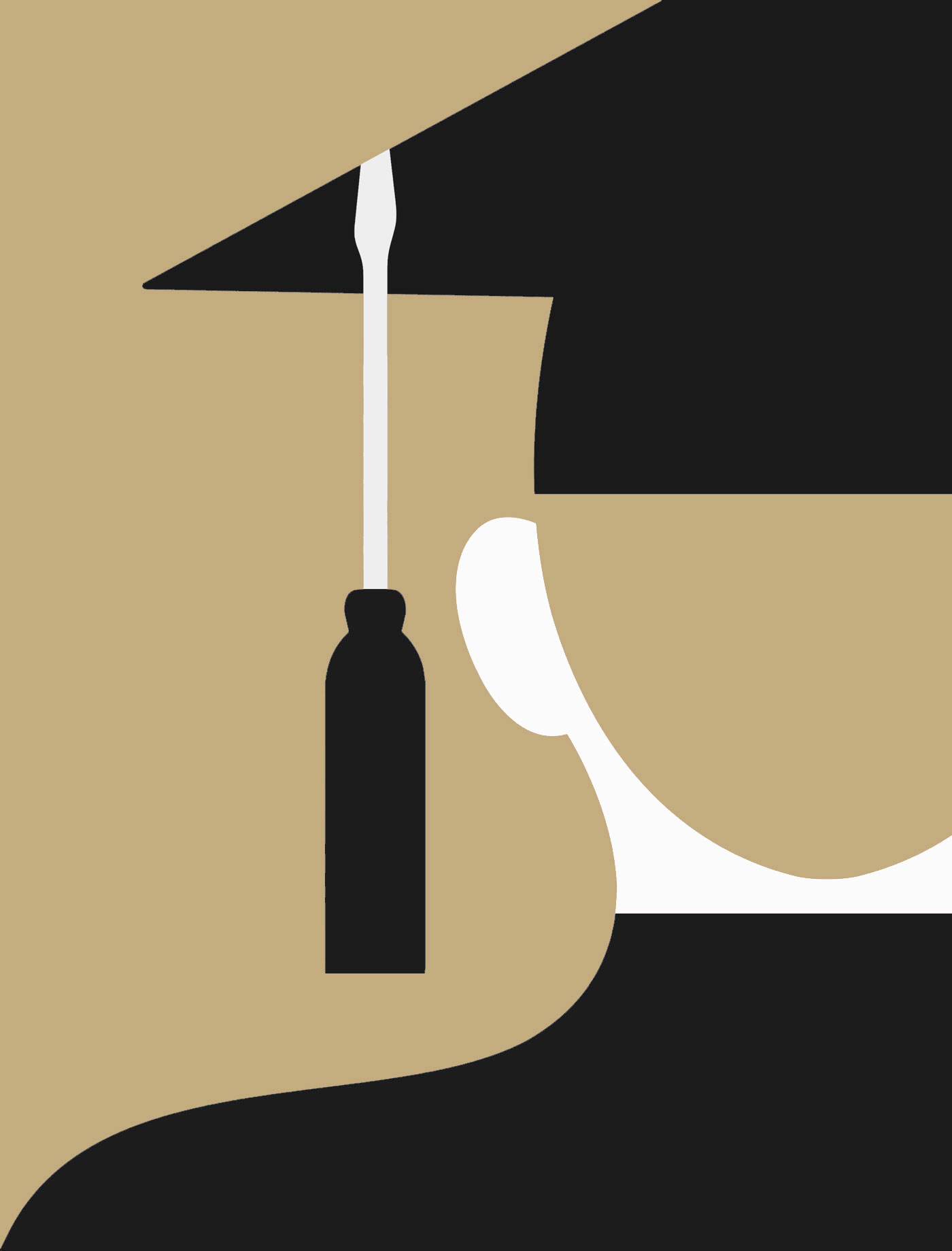 The New York Times - Illustration for an Op-Ed about how practical further education should be.
