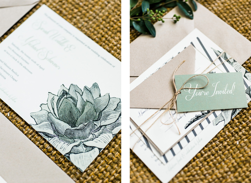 Sarah and Michael's Garden Party Invitations
