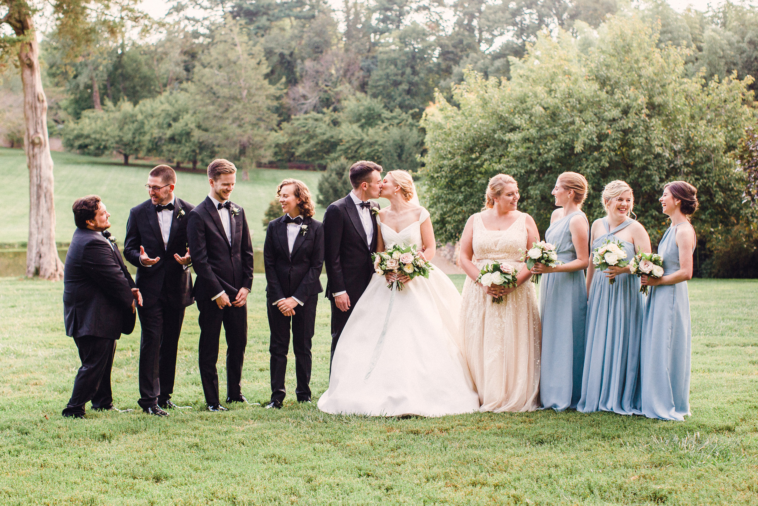 Black tie Graylyn Estate wedding
