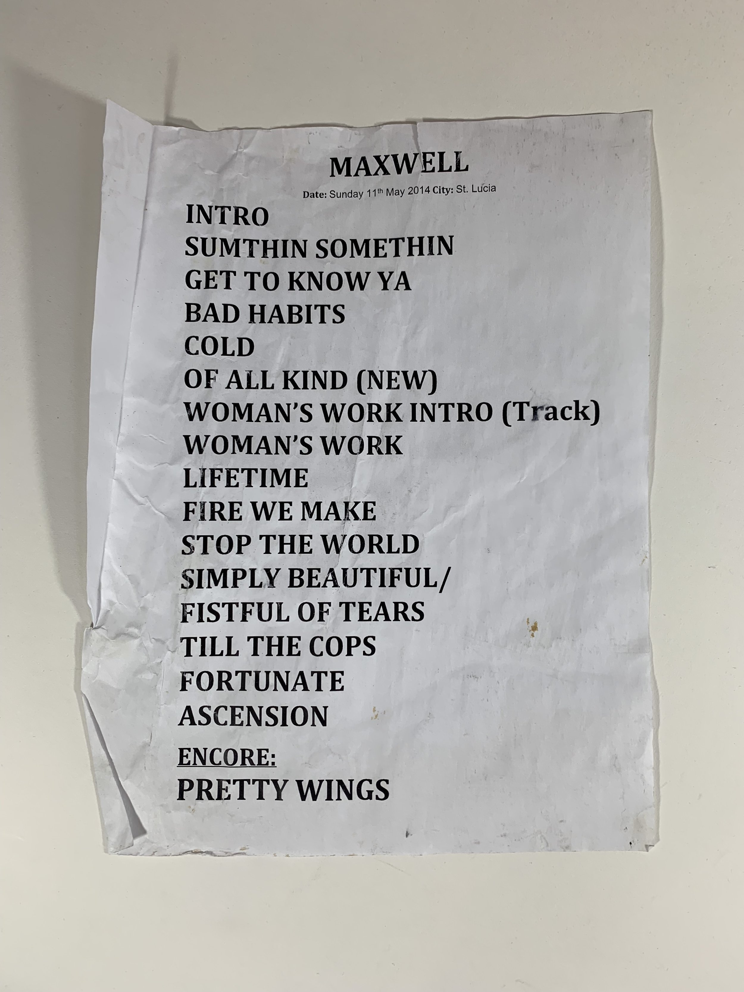 Maxwell | Jazz and Arts Fest | 5/11/14