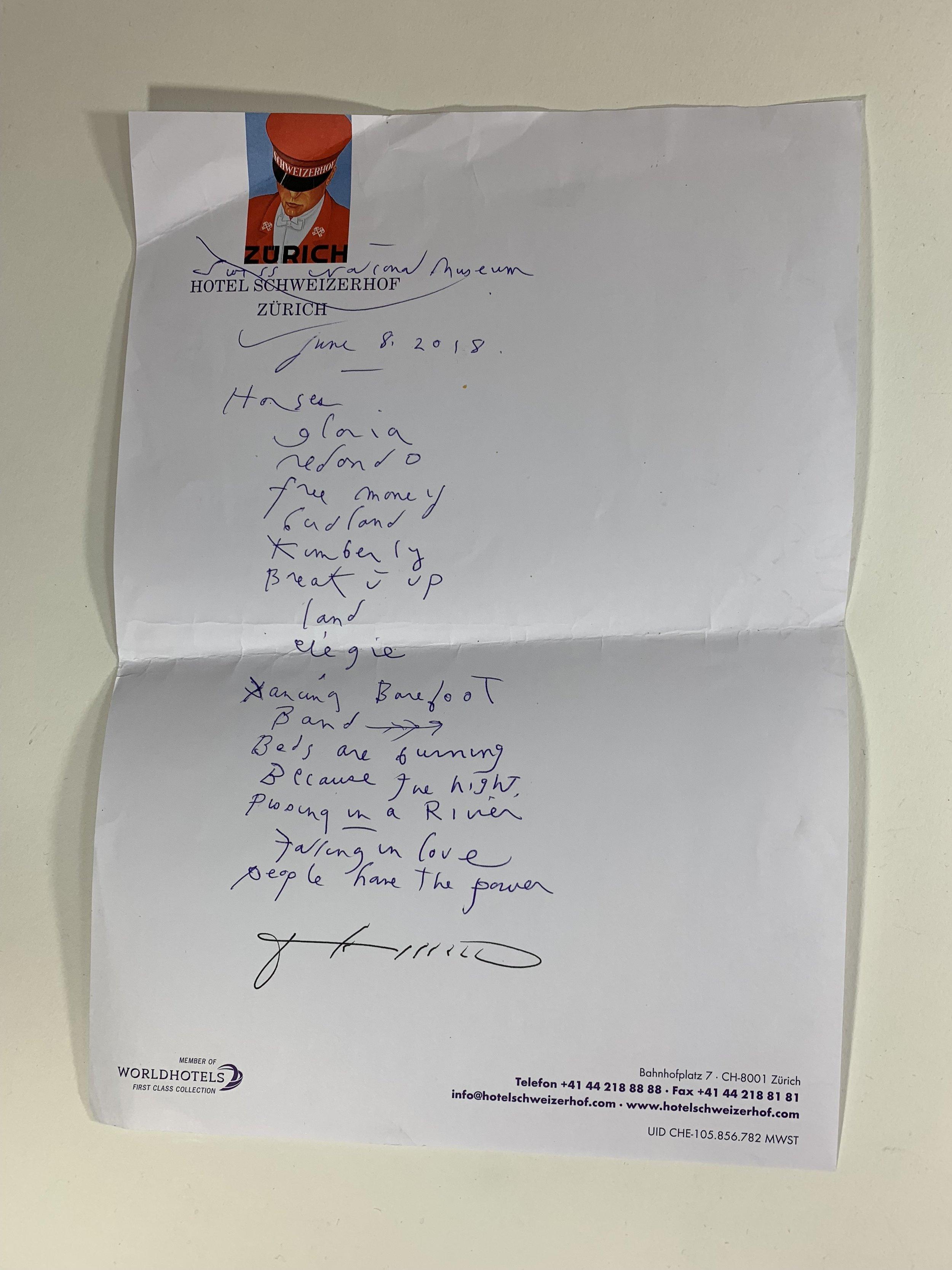 Patti Smith | Swiss National Museum | 6/8/18