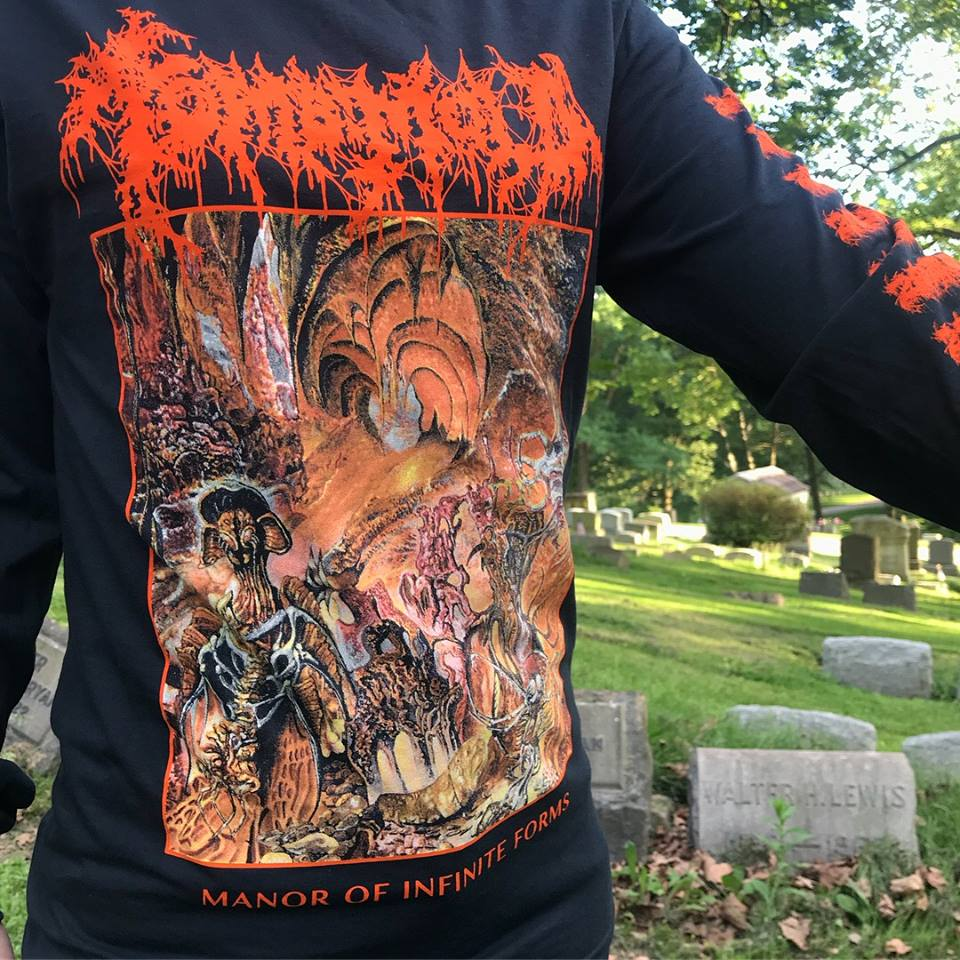 "TOMB MOLD  ""Manor of Infinite Forms"" Longsleeves  20 Buck Spin / Artwork by Brad Moore"