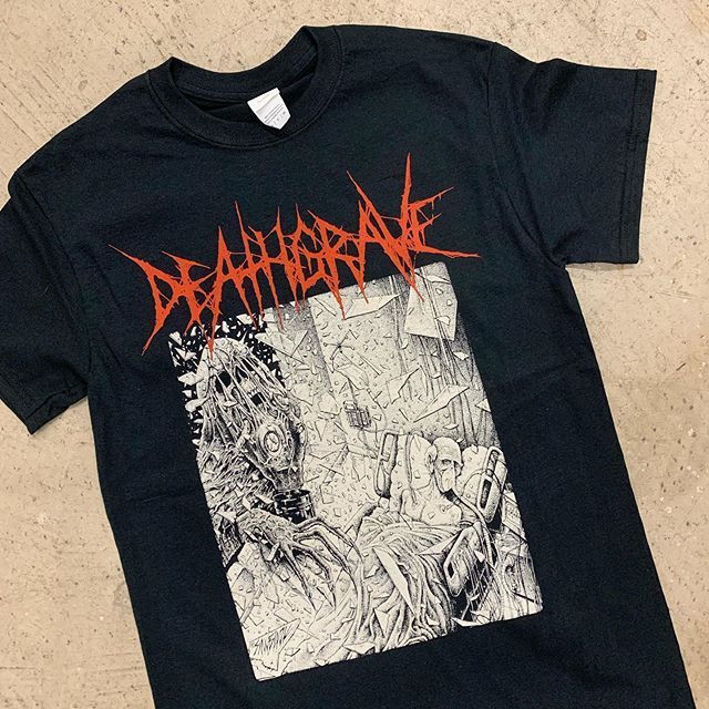 New DEATHGRAVE shirts heading out to NYC today for their east coast dates! Thanks @lemurmutation !