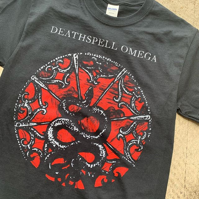 New DEATHSPELL OMEGA shirts heading over to @seasonofmistofficial !