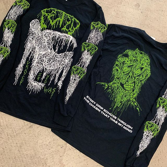 New FETID longsleeves printed for the upcoming tour with CEREBRAL ROT! 🤮