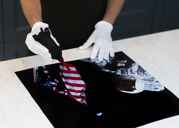 Checking Process - To ensure that all of our products match the quality we promise, we hand check every single C-print and plexiglass print by eye, handling them with clean cotton gloves in a neat environment, before packing and wrapping them to ensure a perfect delivery.