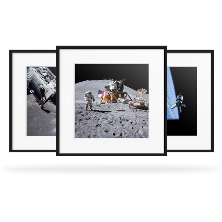 C-prints - Our professional C-prints are of museum and photography gallery quality, making them some of the best Apollo Program prints available today. The prints are developed through the Chromogenic process with a matt gloss finish on a professional Lambda printer, not the standard color printing onto photographic paper. These prints are ready for you to be framed to your taste.