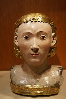 Reliquary Bust of Saint Juliana, Circle of Giovanni de Bartolo, gilded copper, gesso, and tempera, Italian, ca. 1376