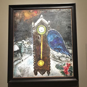 Grandfather Clock with Blue Wing  (1949)