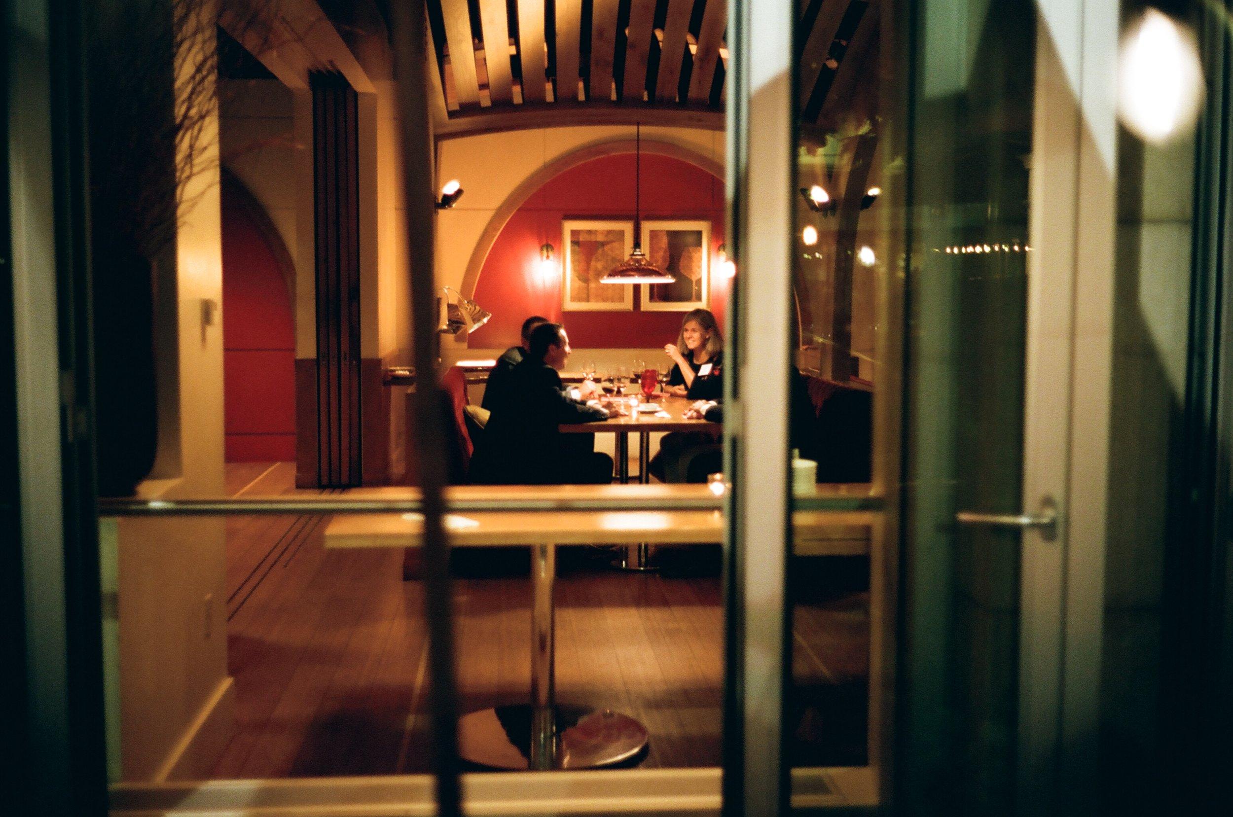 Wine Bar at Midnight   Leica M2 with Kodak Portra 400 Film.