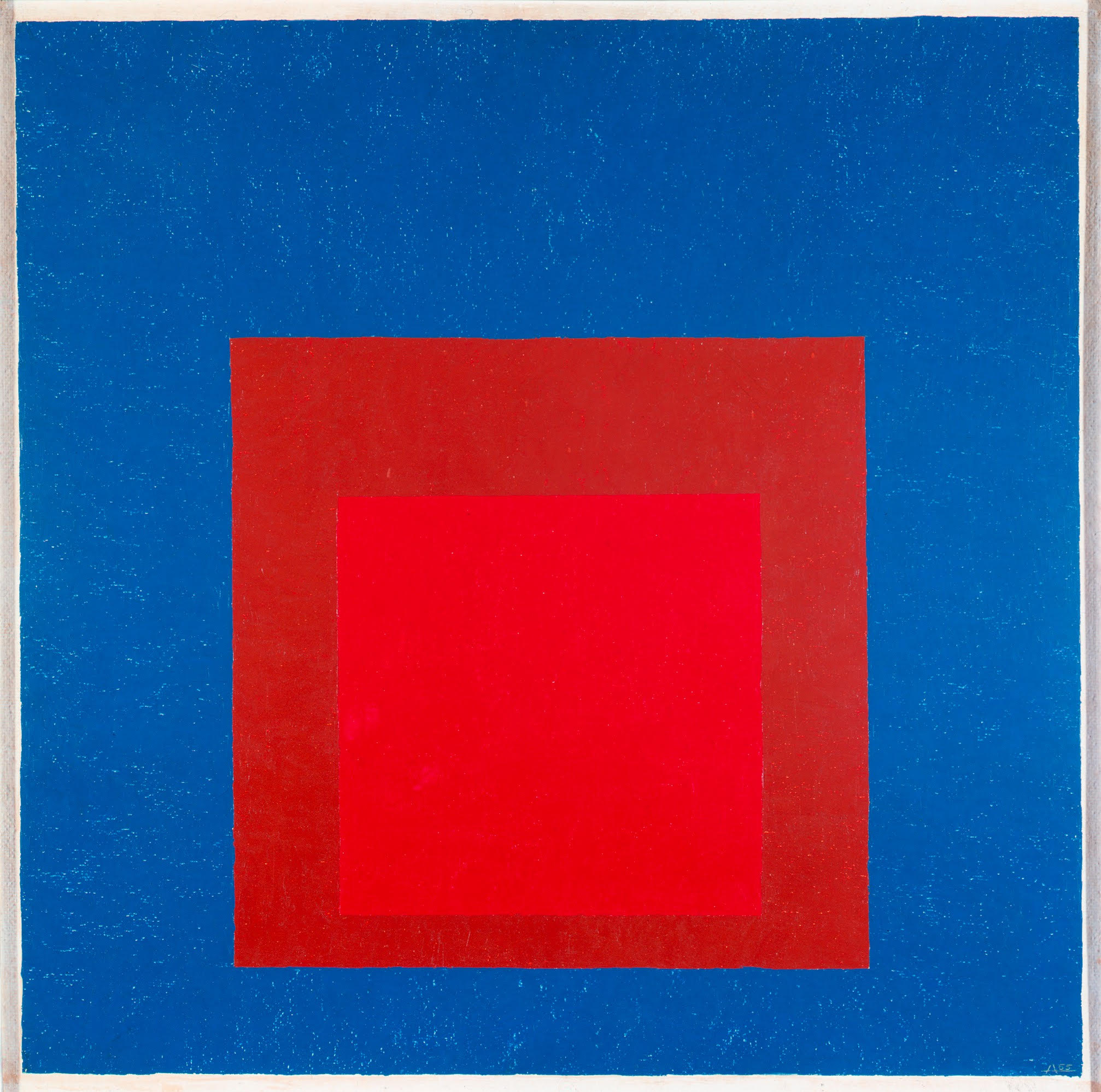 Homage to the Square: Against Deep Blue Josef Albers, American (Bottrop, Germany 1888 - 1976 New Haven, Conn.)
