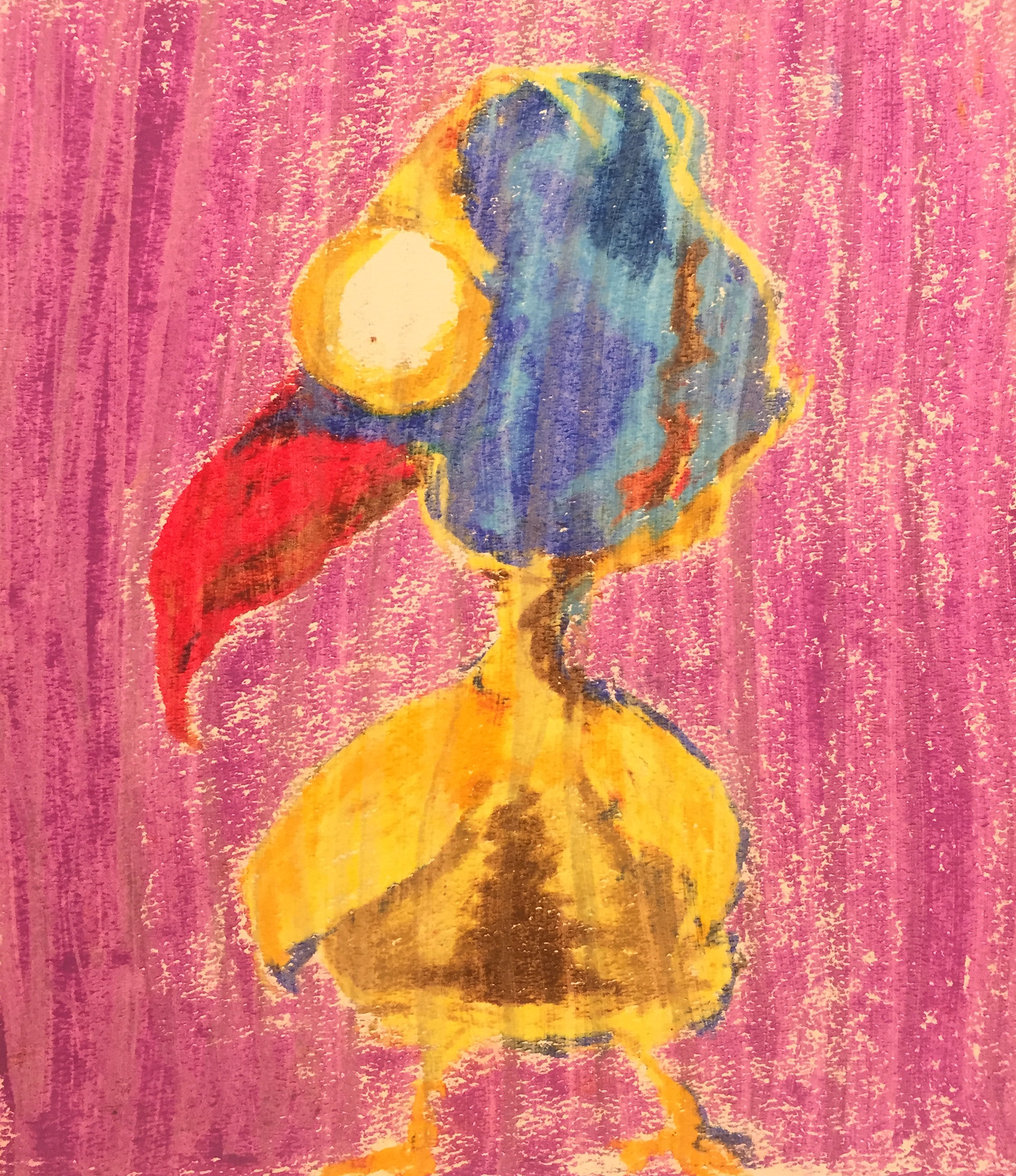 Plucked  Oil pastels.