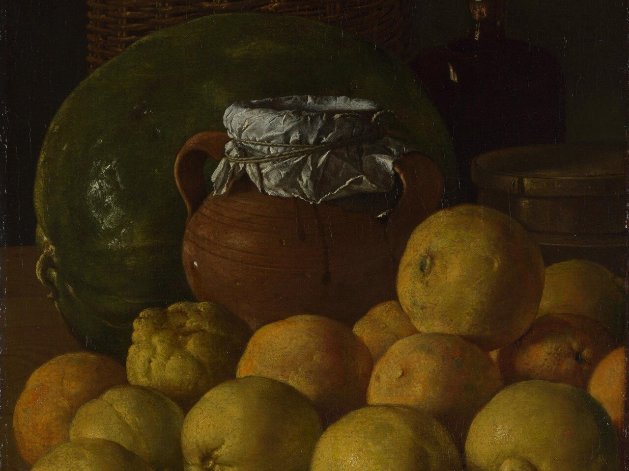 Luis Egidio Meléndez,  Still Life With Lemons and Oranges  (1716-1780), The National Gallery