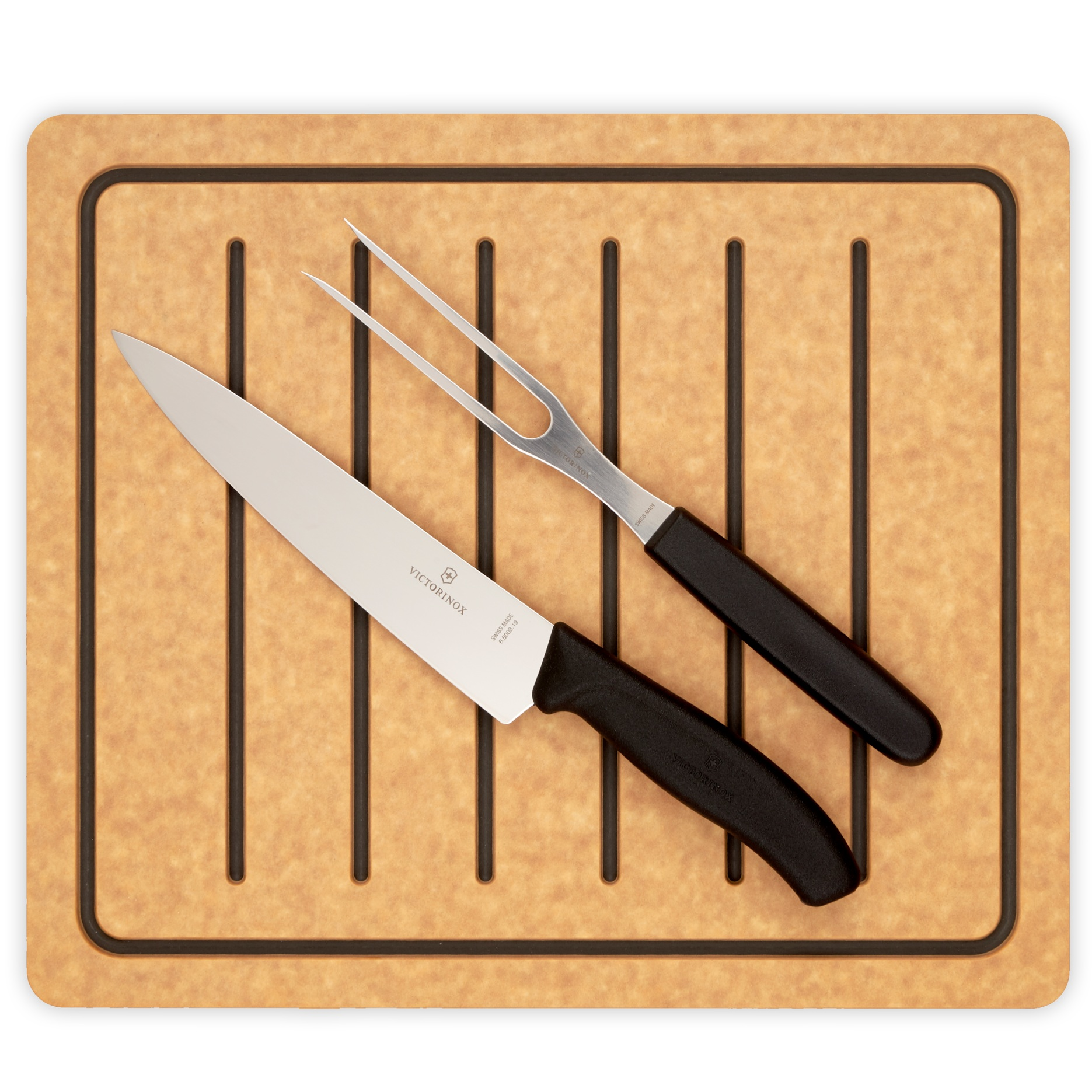 "Carving Combo SetOnly $39.99 - 14"" x 12"" Carving BoardVictorinox Carving Set"