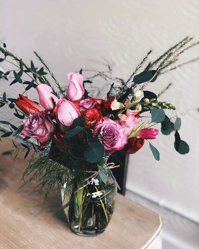 Late to the party this Valentines Day? Come by and grab one of our pre-made arrangements!