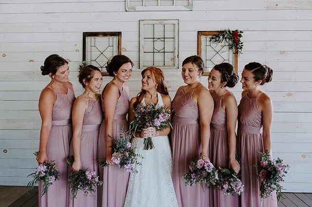 #weddingwednesday with these babes in purple 🥰