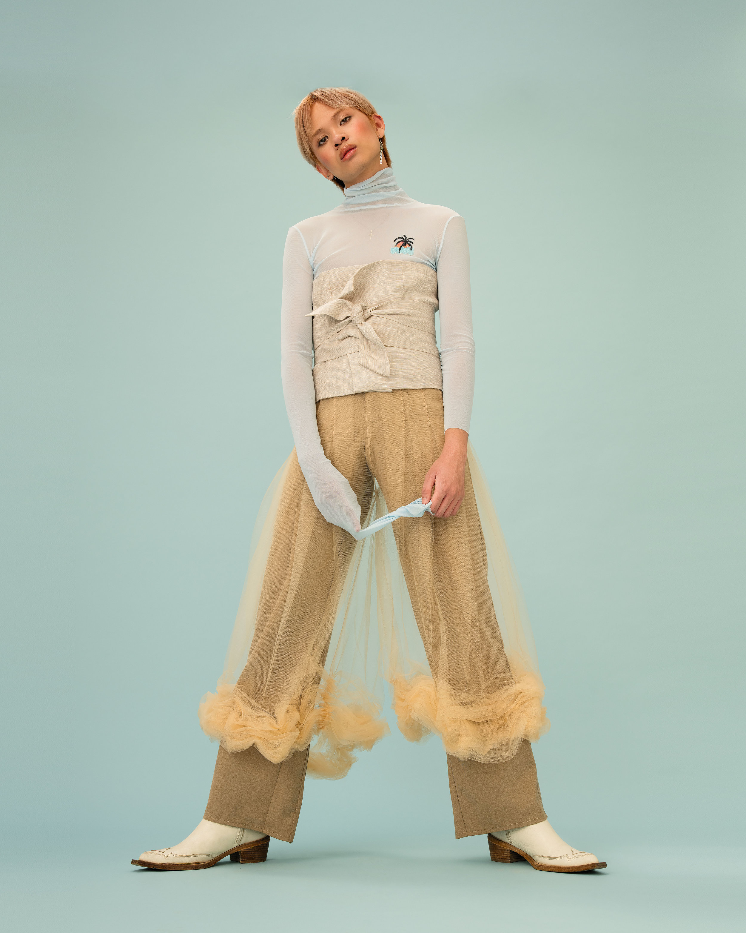 Jimmy wearing our Tulle pants for Medusa magazine   https://www.medusa.ovh/homepage-collection/jimmy#0