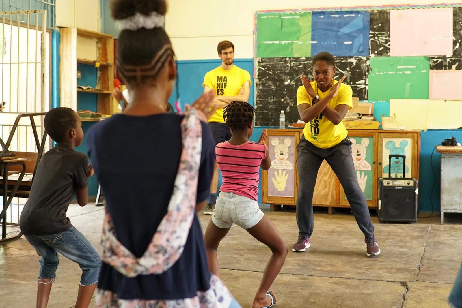 Capture of Afrobeat dance workshop - August Town Primary School