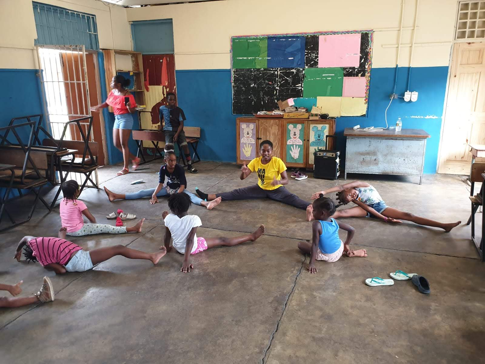 Stretching exercises - August Town Primary School