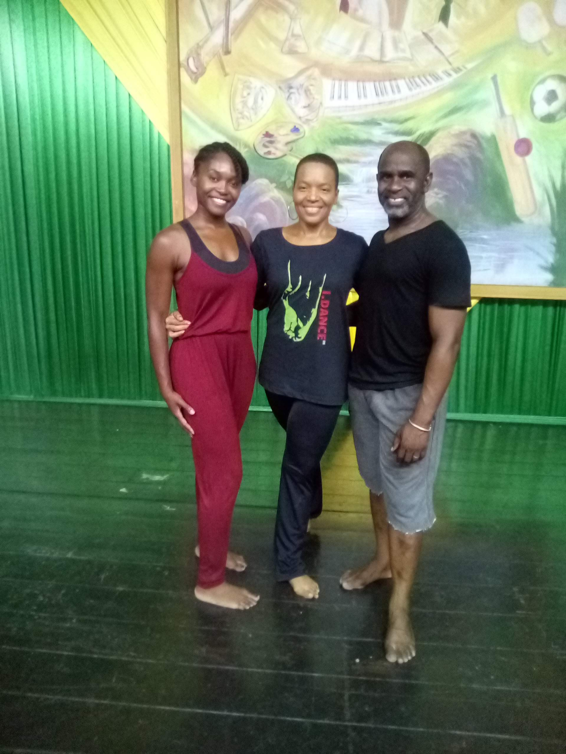 Dance workshop with I.DANCE  Me, Michelle and Patrick