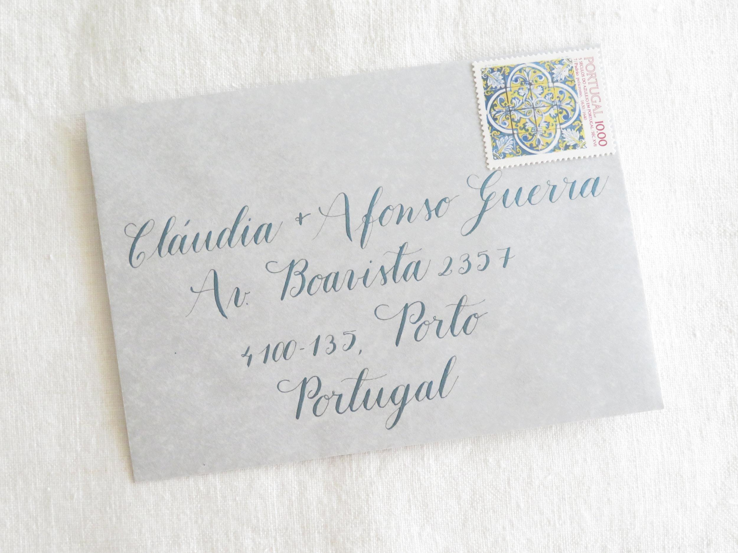 Storytime Calligraphy Design Endereçamento de Envelope